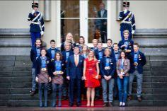 Maxima et Willem Alexander des Pays-Bas ont reçu les médaillés des Jeux Olympiques de Sotchi