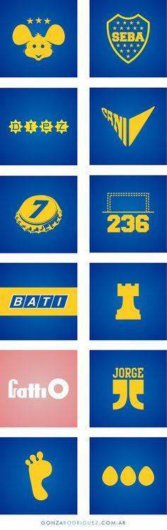 Simbolos Xeneizes on Behance Football Soccer, Flag, Logos, Behance, Pie, Graphics, Tattoo, Sport, Ideas