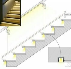 LED cove lighting application options for referenceRisultati immagini per cove lighting detailDiscover thousands of images about Ross MillaneyLighting working drawing for corridors on to floors.How to Install Elegant Cove Lighting - Salvabrani - Salvabran Stairway Lighting, Cove Lighting, Lighting Design, Indirect Lighting, Lights On Stairs, Staircase Lighting Ideas, Strip Lighting, Interior Stairs, Home Interior Design