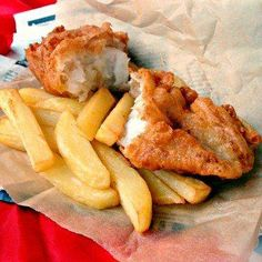 British Beer Battered Fish and Chips