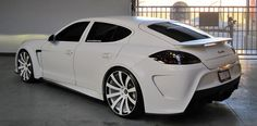 White Porche Panamera... Did I mention I need one of these?