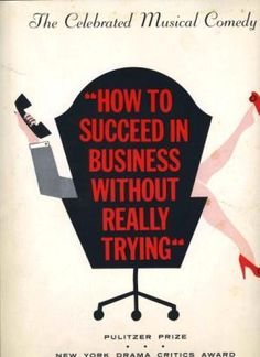How To Succeed in Business Without Really Trying Broadway Poster