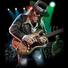 Texas Blues Skull Playing Guitar Rock & Roll Music Lovers T-Shirt Tee Rock N Roll Music, Rock And Roll, Brisk Walking, Walking Dead, Austin Music, Girl Skull, Vampire Girls, Girl Attitude, Playing Guitar