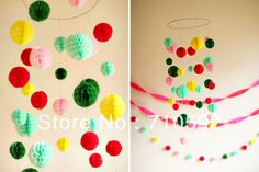 Free Shipping 8cm Lot of 50 Tissue Paper Honeycomb Balls Hanging Paper Balls Honeycomb Paper Home Wedding Party Decoration $12,63