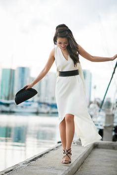 classy + carefree in white + black