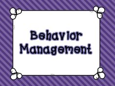 Behavior Management Behavior Management, Classroom Management, Office Politics, Professional Development, Classroom Ideas, Education, School, Board, Cover