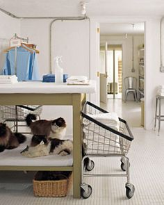 how have i survived laundry without wheels? ...this is a must in the new laundry space