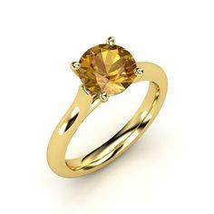 The Adhara Ring #customizable #jewelry #citrine #gold #ring