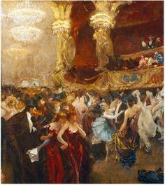 Charles Hermans, The Masked Ball at L'Opera