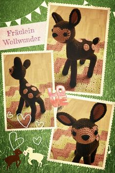Reh * Bambi * deer * gehäkelt * crochet  https://www.facebook.com/fraeuleinwollwunder