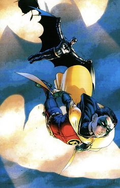 """Just so you know, yesterday was a historic day (for a Batman fan as myself). The debut of Richard """"Dick"""" Grayson (the origina Robin) as Batman with Damian Wayne as the new Robin. Bruce Wayne's son Damian is going to. Batman Robin, Im Batman, Funny Batman, Gotham Batman, Nightwing, Batgirl, Dc Universe, Batman Universe, Comic Book Heroes"""