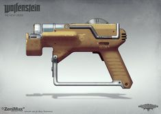 Concept art of the Lasercutter I did for Wolfenstein The New Order