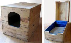 caisse en bois avec toit amovible