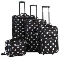 Cute Polka Dot Suitcases for Sale