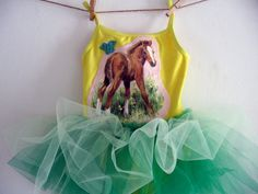 PONY IN the PASTURE Leotard Tutu Size 12/18 months by WhimsyRanch, $45.00