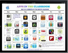 Apps in the Classroom Calendar