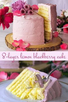Layer after layer of buttery yellow cake doused in limoncello are stacked tall, separated with lemon curd, and iced with Blackberry Italian Meringue Buttercream. Maple Apple Cake Recipe, Apple Cake Recipes, Dessert Recipes, Desserts, Limoncello, Fancy Cakes, Mini Cakes, Cupcakes, Cupcake Cakes