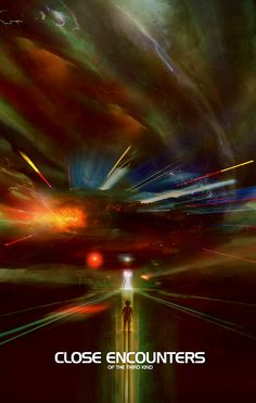 Close Encounters of the Third Kind by Christopher Shy - Home of the Alternative Movie Poster -AMP-