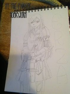 I tried drawing Erza from Fairy Tail