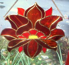 Chakra Lotus Flower Stained Glass Panels by Lightworksartworks, $45.00