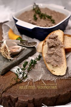 Pork Rillettes - absolutely delicious and such a treat. Such a shame you can't buy it in Britain...