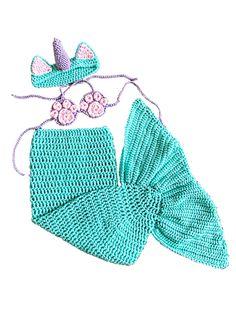 Ravelry: Unicorn Cat Mermaid Tail Costume pattern by Melissa Hassler Crochet Baby Cardigan, Baby Afghan Crochet, Crochet Baby Clothes, Free Crochet, Irish Crochet, Crochet Squares, Crochet Scarf Tutorial, Crochet Beanie Pattern, Crochet Patterns