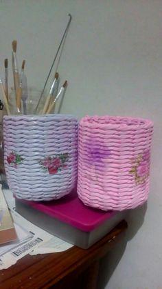 Decoupage.. paper basket