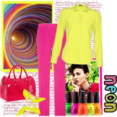 Neon Lights, created by bodangela on Polyvore