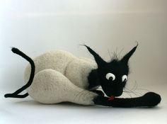 Игрушки животные, ручной работы. Ярмарка Мастеров - ручная работа из серии признаки кошкости.. Handmade.