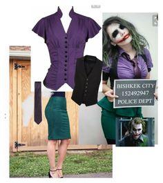 Basic Joker costume idea by robyngoesroar on P Halloween Kostüm Joker, Diy Joker Costume, Female Joker Costume, Joker Halloween Costume, Halloween Looks, Halloween Outfits, Diy Costumes, Costumes For Women, Pirate Costumes
