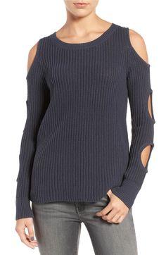 Main Image - Trouvé Cutout Sleeve Cotton Sweater