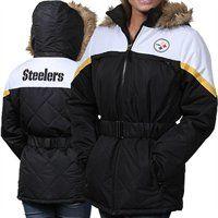 Pittsburgh Steelers Ladies The Looker Full Zip Jacket - Black/White Steelers Gear, Steelers T Shirts, Pittsburgh Steelers Merchandise, Pittsburgh Sports, Steeler Nation, Home Team, Nike Outfits, Sport Girl, Football Team