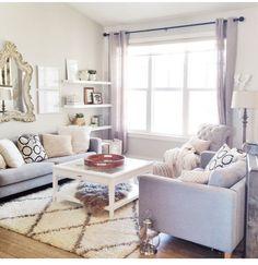 simple, feminine living room