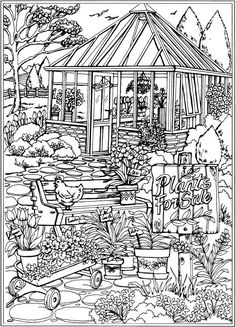 to Dover Publications; Creative Haven Spring Scenes Coloring BookWelcome to Dover Publications; Creative Haven Spring Scenes Coloring Book Coloring Pages Nature, Free Adult Coloring Pages, Coloring Pages To Print, Mandala Coloring, Coloring Book Pages, Printable Coloring Pages, Coloring Pages For Kids, Coloring Sheets, Spring Scene