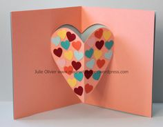 carte pop-up St-Valentin Valentine Cards For Boyfriend, Pop Up Valentine Cards, Pop Up Cards, Valentine Day Crafts, Valentine's Cards For Kids, Cards For Friends, Valentines Bricolage, Ladybug Crafts, Heart Cards