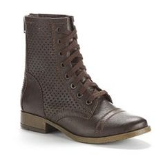Candie's Perforated Lace-Up Boots - Women