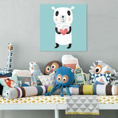 LEINWAND BILD für Kinder Zimmer, cooles Geschenk von grafikovo - Welt der kreativen und modernen Drucken auf DaWanda.com