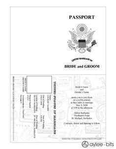 Vintage Passport Style Cayman Islands wedding invitation shot by ...
