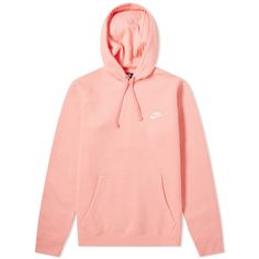 Buy the Nike Club Pullover Hoody in Pink Gaze & White from leading mens fashion retailer END. - only Fast shipping on all latest Nike products. Patagonia Pullover, Fleece Pullover, Nike Pullover Hoodie, Sweater Hoodie, Nike Sweatshirts Hoodie, Cute Sweatshirts, Cool Hoodies, Men's Hoodies, Hoodies For Men