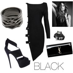 Untitled #26 by brendadg on Polyvore featuring polyvore fashion style Posh Girl Giuseppe Zanotti Yves Saint Laurent Repossi