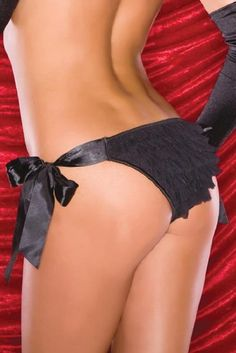 Amazon.com: Coquette 118 Polka dot mesh panty with satin ribbon side ties and ruffle bum detailing.: Clothing