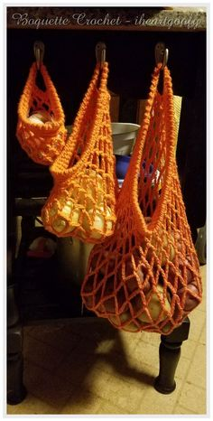 Produce/grocery bags free crochet pattern
