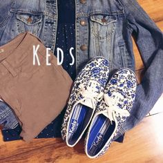 Keds • Floral Print Adorable blue and white floral print keds WITH BOX! Worn once, sneakers look brand NEW, perfect condition (size 9.5)                                                   NO TRADES                                                                FAST SHIPPINGNON SMOKER.                         Reasonable Offers Only, No Lowballing Please  Use the offer button please!  keds Shoes Sneakers