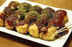A treat I I enjoyed from street vendors in Tokyo. Taco yaki (octopus fritters).