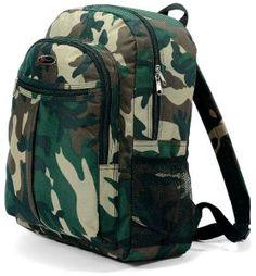 Benzi unisexe motif Camouflage Jungle-Sac à dos Style militaire homme ou femme unisexe pour l'école, l'université, les voyages, vacances…