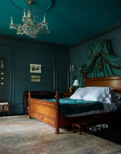emerald bedroom emerald bedroom best emerald bedroom ideas on green curtains one room challenge makeovers that ll inspire emerald bedroom emerald green bedroom walls Jewel Tone Bedroom, Emerald Bedroom, Teal Master Bedroom, Green Bedroom Walls, Teal Walls, Green Rooms, Bedroom Colors, Bedroom Ideas, Teal Bedrooms