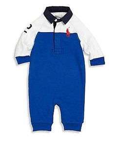 Ralph Lauren Baby's Collared Colorblock Coverall