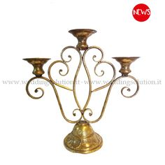 News: Make your event unique and original is easy with Wedding Solution, thanks to continuous research and the arrival of new items for hire, constantly offer new ideas for unique outfits. Today, we propose to hire a new vintage candlestick with 3 burners copper-gold color, perfect for romantic productions and elegant retro flavor. What do you think? Come and rent this for our creative showroom.
