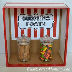 This site has a bunch of fantastic DIY carnival games and activities... including this simple GUESSING BOOTH.                                                                                                                                                                                 More