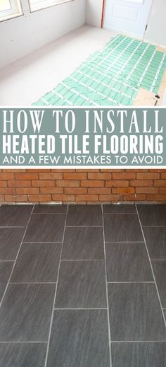 Easy to Install Heated Flooring | The Creek Line House Diy Bathroom Inspiration, Bathroom Ideas, Do It Yourself Decorating, Heated Tile Floor, Diy Furniture Plans, Home Hacks, Home Repair, Easy Install, Home Projects